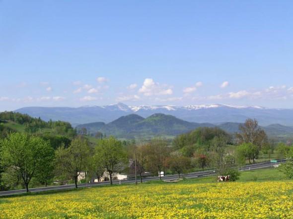 Widok na Panoramę Karkonoszy