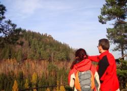 wycieczka na Krzyżną Górę w Rudawach Janowickich -